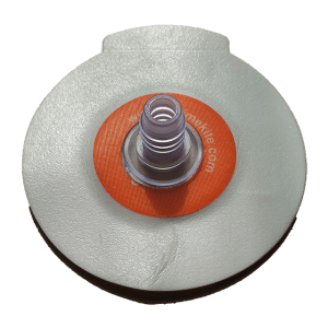 One-pump valve straight on self adhesive